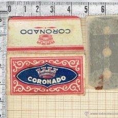 Antigüedades: FUNDA HOJA DE AFEITAR MARCA CORONADO CON CUCHILLA.. Lote 47112692