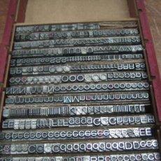 Antigüedades: IMPRENTA - LETRAS DE PLOMO - LOTE 33-3 - 20 FOLIO ANCHA FINA - 400 PIEZAS. Lote 47118377