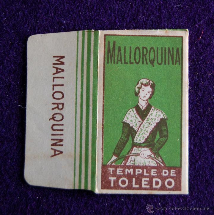HOJA DE AFEITAR ANTIGUA - MALLORQUINA TEMPLE DE TOLEDO - SIN USAR (Antigüedades - Técnicas - Barbería - Hojas de Afeitar Antiguas)