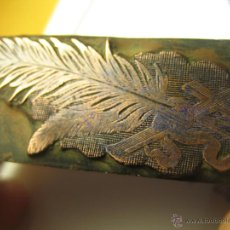 Antigüedades: IMPRENTA GRABADO GALVANO BRONCE-MADERA MOTIVO NAVIDEÑO, TAMAÑO 20X57 MM - REF. B-M 6. Lote 47130563