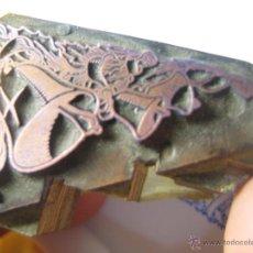 Antigüedades: IMPRENTA GRABADO GALVANO BRONCE-MADERA MOTIVO NAVIDEÑO, TAMAÑO 32X44 MM - REF. B-M 7. Lote 47130611