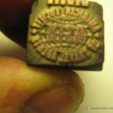 Antigüedades: IMPRENTA GRABADO GALVANO BRONCE-MADERA MOTIVO ASTA SOCIEDAD, TAMAÑO 14X13 MM - REF. B-M 14. Lote 47130881