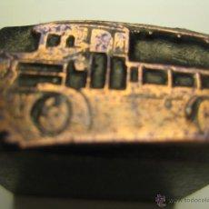 Antigüedades: IMPRENTA GRABADO GALVANO BRONCE-PLOMO - MOTIVO CAMION - TAMAÑO 14X25 MM - REF. BP 2. Lote 47134482
