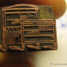 Antigüedades: IMPRENTA GRABADO GALVANO BRONCE-PLOMO - MOTIVO MUEBLES - TAMAÑO 15X10 MM - REF. BP 9. Lote 47142316