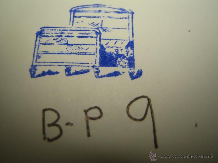 Antigüedades: IMPRENTA GRABADO GALVANO BRONCE-PLOMO - MOTIVO MUEBLES - TAMAÑO 15X10 MM - REF. BP 9 - Foto 2 - 47142316