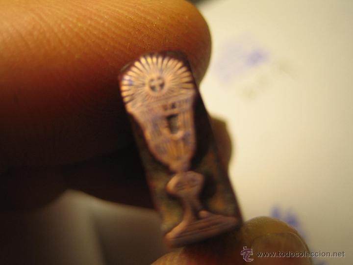 Antigüedades: IMPRENTA GRABADO GALVANO BRONCE-PLOMO - MOTIVO RELIGIOSO - TAMAÑO 151X6 MM - REF. BP 11 - Foto 2 - 47142350
