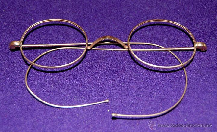 ANTIGUA MONTURA DE GAFAS BAÑADAS EN ORO. AÑOS 20. ADAPTABLE A TODO TIPO DE CRISTALES. (Antigüedades - Técnicas - Instrumentos Ópticos - Gafas Antiguas)