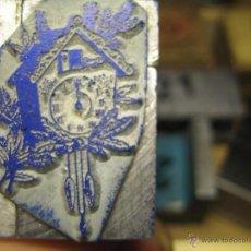Antigüedades: IMPRENTA GRABADO - RELOJ DE CUCO - REF. G13 - EL TAMAÑO ESTA EN LA FOTO EN MM.. Lote 47190836