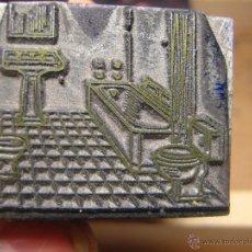 Antigüedades: IMPRENTA GRABADO FONTANERIA - REF. G22 - EL TAMAÑO ESTA EN LA FOTO EN MM.. Lote 47191033