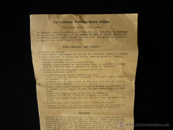 Antigüedades: Empalmadora trifilm Paillard-Bolex - Foto 7 - 47206568
