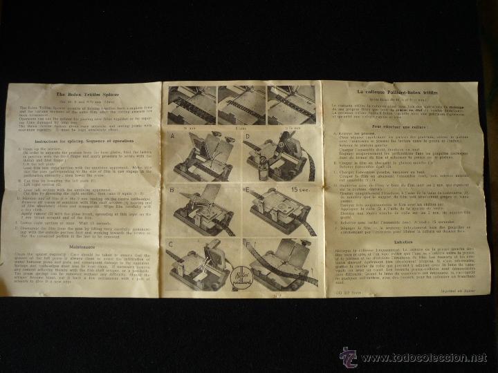 Antigüedades: Empalmadora trifilm Paillard-Bolex - Foto 9 - 47206568