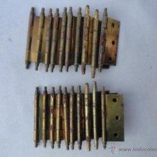 Antigüedades: LOTE DE 20 BISAGRAS.. Lote 47222486