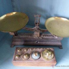 Antigüedades: CONJUNTO DE BALANZAS I PESAS. Lote 47237918