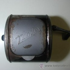 Antigüedades: AFILADOR DE HOJAS DE AFEITAR ANTIGUO MARCA TWINPLEX. Lote 47238906