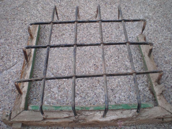 Lote de 6 rejas antiguas de hierro forjado forj comprar objetos cerrajer a y forja antigua en - Rejas de forja antiguas ...