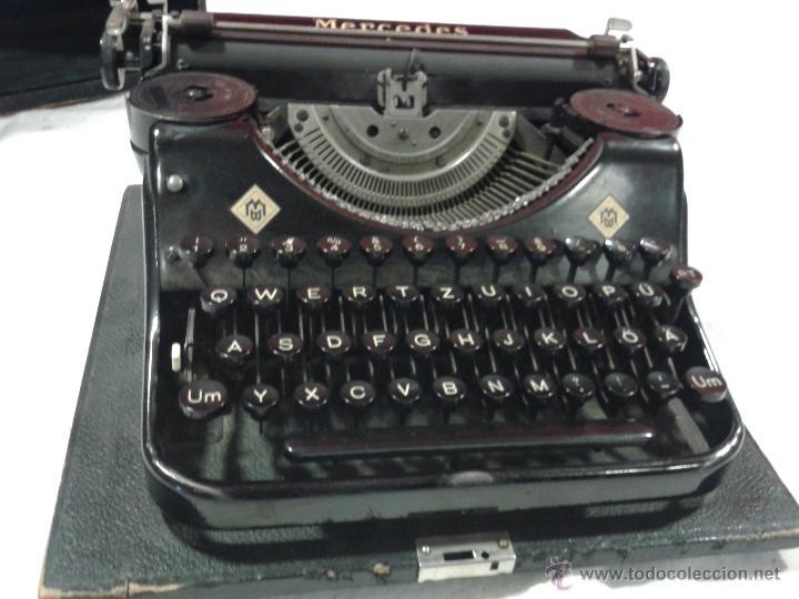 Antigüedades: Máquina de escribir MERCEDES - Foto 2 - 47307658
