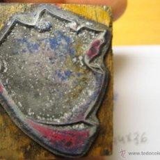Antigüedades: IMPRENTA, GRABADO DE METAL MONTADO EN MADERA PARA PODER IMPRIMIR -REF. G-46 MEDIDAS EN FOTO. Lote 47332545