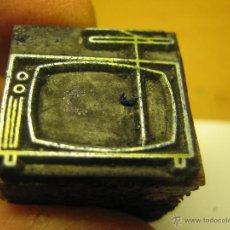 Antigüedades: IMPRENTA, GRABADO DE METAL MONTADO EN MADERA PARA PODER IMPRIMIR -REF. G-68 MEDIDAS EN FOTO. Lote 47342653