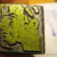 Antigüedades: IMPRENTA, GRABADO DE METAL MONTADO EN MADERA PARA PODER IMPRIMIR -REF. G-81 MEDIDAS EN FOTO. Lote 47342931