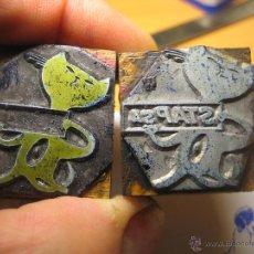 Antigüedades: IMPRENTA, GRABADO DE METAL MONTADO EN MADERA PARA PODER IMPRIMIR -REF. G-96 MEDIDAS EN FOTO. Lote 47343707