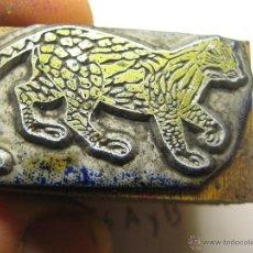 Antigüedades: IMPRENTA, GRABADO DE METAL MONTADO EN MADERA PARA PODER IMPRIMIR -REF. G-98 MEDIDAS EN FOTO. Lote 47343809