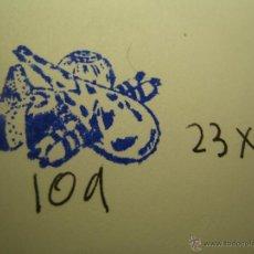 Antigüedades: IMPRENTA, GRABADO DE METAL MONTADO EN MADERA PARA PODER IMPRIMIR -REF. G-109 MEDIDAS EN FOTO. Lote 47344731