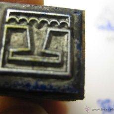Antigüedades: IMPRENTA, GRABADO DE METAL MONTADO EN MADERA PARA PODER IMPRIMIR -REF. G-110 MEDIDAS EN FOTO. Lote 47344750