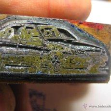 Antigüedades: IMPRENTA, GRABADO DE METAL MONTADO EN MADERA PARA PODER IMPRIMIR -REF. G-117 MEDIDAS EN FOTO. Lote 47344968