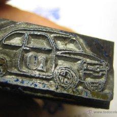 Antigüedades: IMPRENTA, GRABADO DE METAL MONTADO EN MADERA PARA PODER IMPRIMIR -REF. G-122 MEDIDAS EN FOTO. Lote 47345162