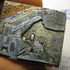 Antigüedades: IMPRENTA, GRABADO DE METAL MONTADO EN MADERA PARA PODER IMPRIMIR -REF. G-124 MEDIDAS EN FOTO. Lote 47345230