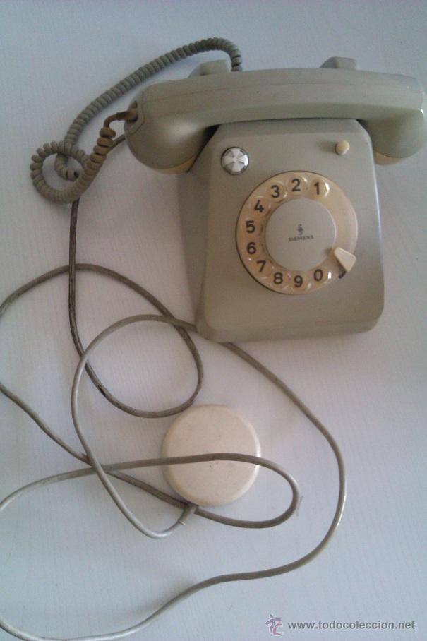 Teléfonos: ANTIGUO TELEFONO ALEMAN SIEMENS FG 54/5143B ALEMANIA BOCHOLT PRINCIPIOS DE LOS AÑOS 60 - Foto 2 - 47350506