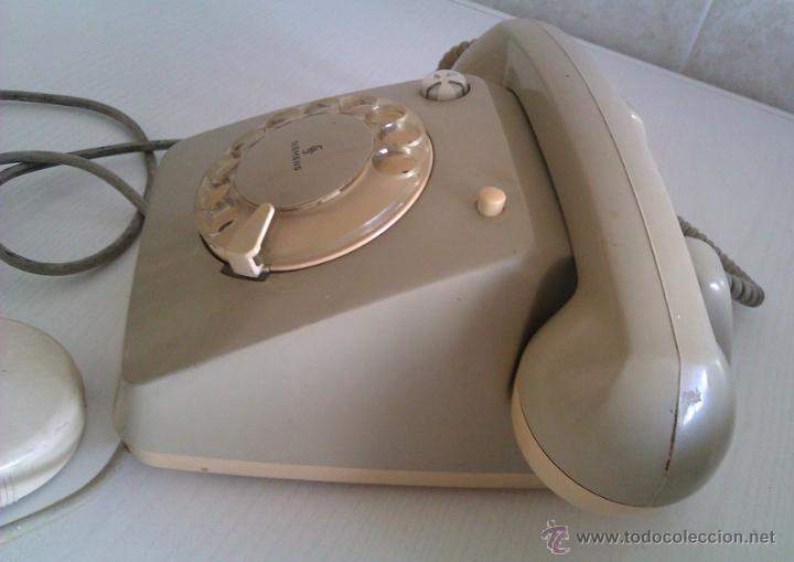 Teléfonos: ANTIGUO TELEFONO ALEMAN SIEMENS FG 54/5143B ALEMANIA BOCHOLT PRINCIPIOS DE LOS AÑOS 60 - Foto 3 - 47350506