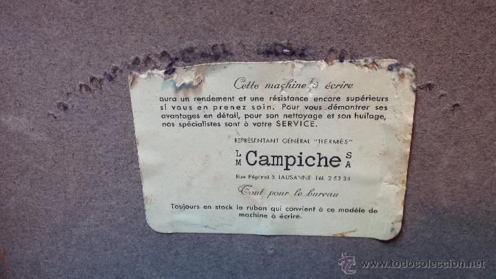 Antigüedades: MAQUINA DE ESCRIBIR PORTATIL HERMES. MADE IN SUIZA. EN BUEN ESTADO, AÑOS 40. - Foto 2 - 47355290