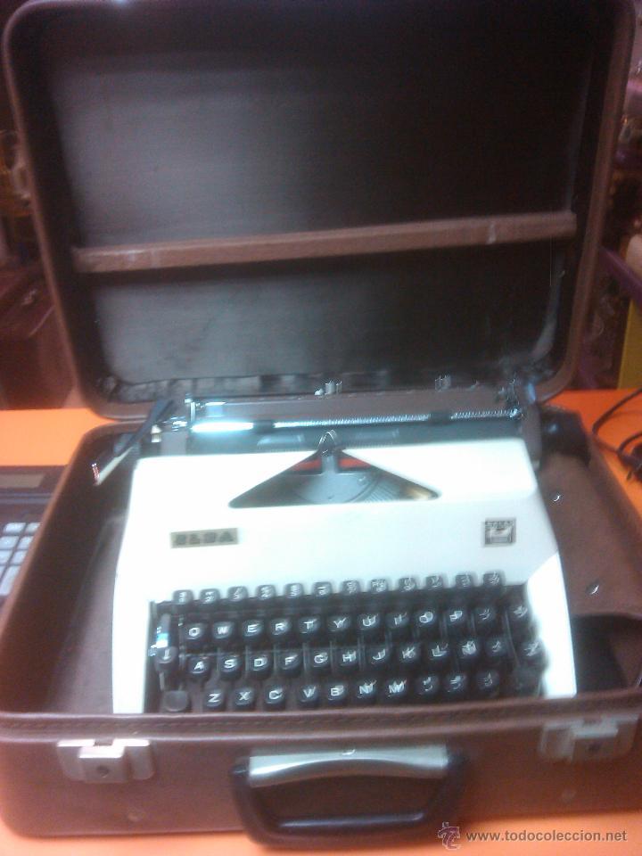 MAQUINA ESCRIBIR ELSA PERFECTO ESTADO MALETIN (Antigüedades - Técnicas - Máquinas de Escribir Antiguas - Otras)