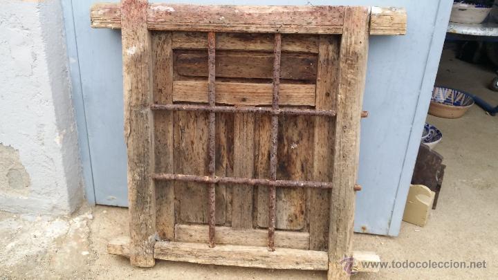 Antigua ventana de madera con rejas de forja comprar objetos cerrajer a y forja antigua en - Rejas de forja antiguas ...