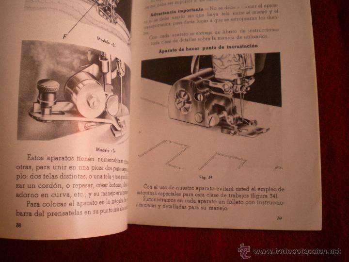 Antigüedades: LIBRILLO INTRUCCIONES - MAQUINA DE COSER ALFA MODELO B - Foto 2 - 47403265