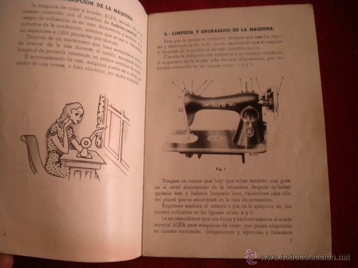 Antigüedades: LIBRILLO INTRUCCIONES - MAQUINA DE COSER ALFA MODELO B - Foto 4 - 47403265