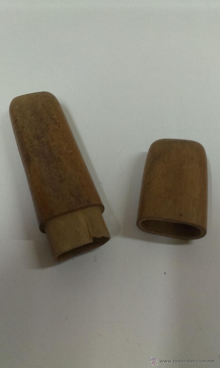 Antigüedades: MUY ANTIGUAS GAFAS . FUNDA DE MADERA ORIGINAL - Foto 9 - 47406574
