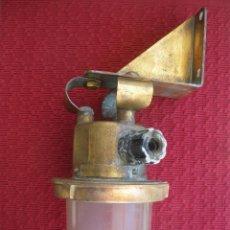 Antigüedades: FAROL O LAMPARA DE MAMPARO, CRISTAL Y BRONCE, ARMADA ESPAÑOLA.. Lote 47411355