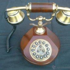 Teléfonos: REPLICA DE TELEFONO ANTIGUO DIGITAL EN MADERA . Lote 47419749