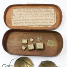 Antiquitäten - balanzas del siglo XIX en estuche 15,5 cm de largo, ver fotos anexas. - 47462991