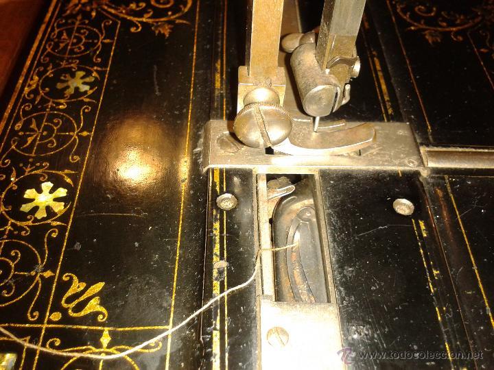 Antigüedades: Máquina de coser Frister&Rossmann - Foto 2 - 47473542