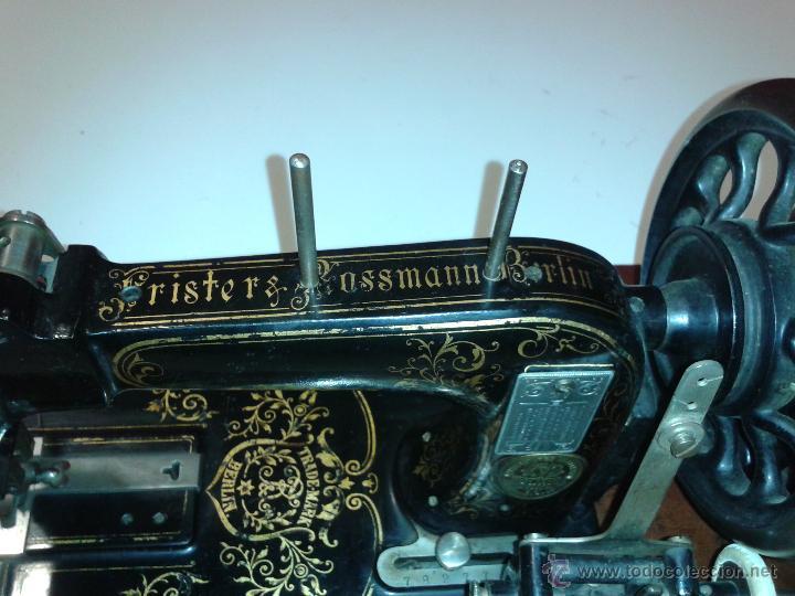 Antigüedades: Máquina de coser Frister&Rossmann - Foto 6 - 47473542