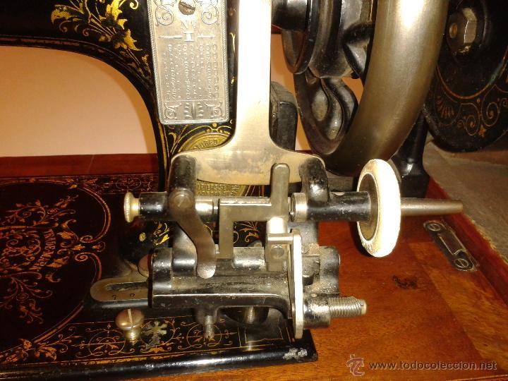 Antigüedades: Máquina de coser Frister&Rossmann - Foto 7 - 47473542
