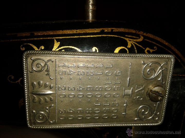 Antigüedades: Máquina de coser Frister&Rossmann - Foto 8 - 47473542