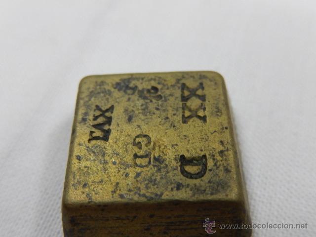 Antigüedades: Balanza pesa monedas. Siglos XVII / XVIII. - Foto 19 - 47494966