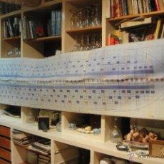 Antigüedades: PETROLERO AFRAN ODYSSEY - GRAN PLANO DE LA MADERA MINIMA PARA EL MONTAJE EN LA GRADA - ASTANO -. Lote 47508901