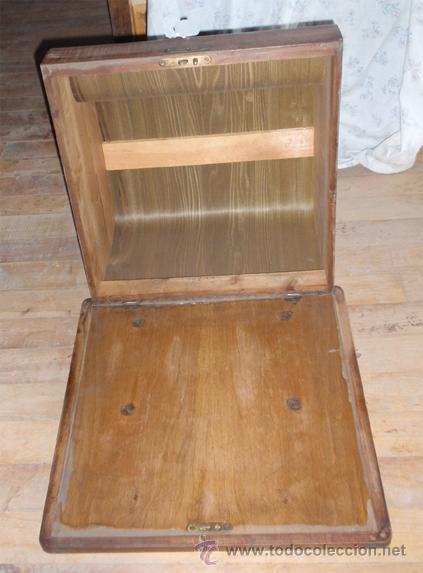 Antigüedades: Caja de maquina de escribir continental. Medida 46 x 47 x29 cm - Foto 2 - 47575926