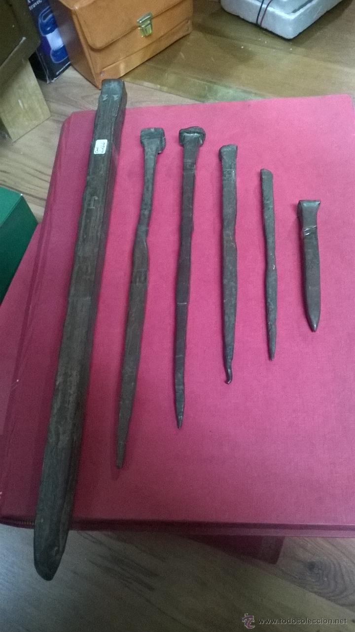 Seis clavos de galeon posible de cob comprar - Clavos de cobre ...