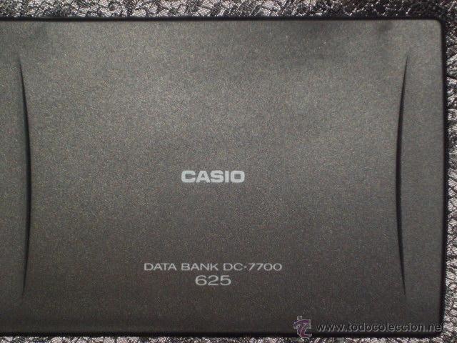 Antigüedades: CASIO.DATA BANK DC-7700 *625* - Foto 7 - 47639332